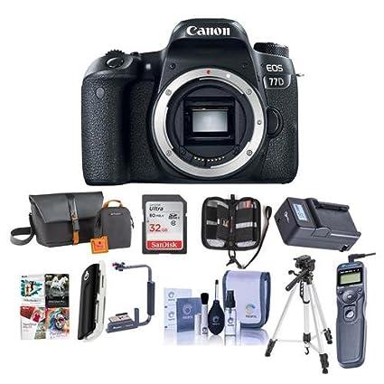 Amazon com : Canon EOS 77D DSLR Body - Bundle with 32GB SDHC Card