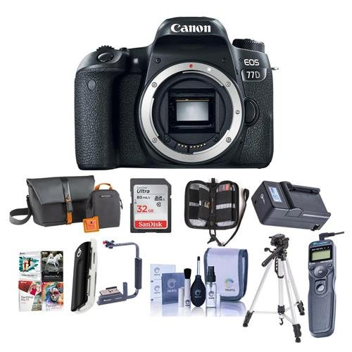 Canon EOS 77D DSLR Body - Bundle with 32GB SDHC Card, Camera