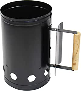 Walmeck Outdoor Home Use Chimney Charcoal Grill Barbecue Ignition Chimney Lightweight Steel Firing Chimney