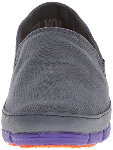 Crocs - Plan Sole Mocassins femmes, EUR: 37.5, Charcoal/Ultraviolet