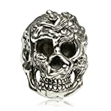Bishilin Silver Plated Mens Ring Skull Partner Rings Silver Anniversary Size 10