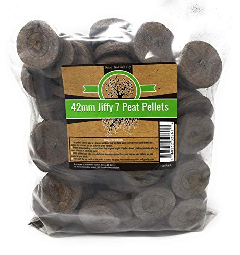 Root Naturally Jiffy-7 42mm Peat Pellets - 100 Count ()