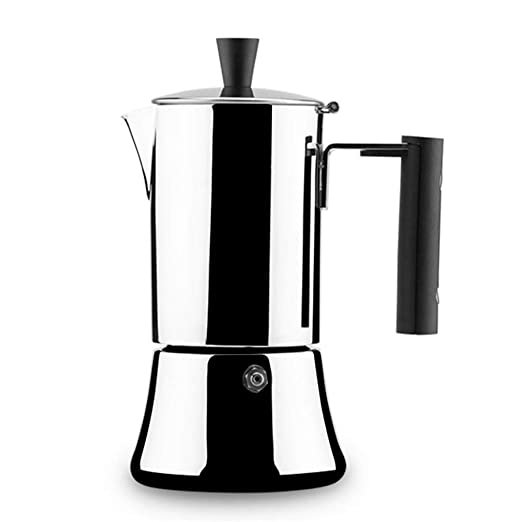 WYFDM Mocha Coffee Pot Stainless Steel - Cafetera Casera para 4/6 ...