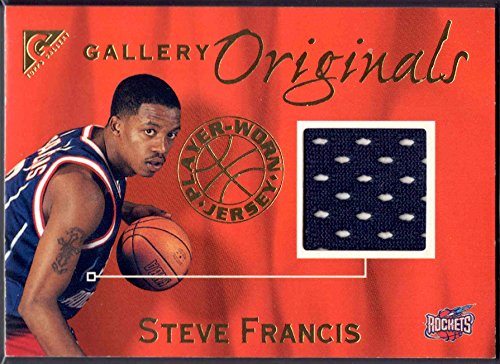 Steve Francis Jersey - 2000 Topps Gallery Originals Steve Francis Jersey Card. Card #G04 Houston Rockets