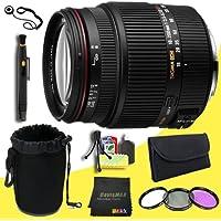 Sigma 18-200mm F3.5-6.3 II DC OS HSM Lens for Nikon SLR Cameras + 62mm 3 Piece Filter Kit + Lens Cap Keeper + Deluxe Lens Pouch + Lens Pen Cleaner + DavisMAX MicroFiber Cloth + Deluxe Starter Kit DavisMAX Bundle