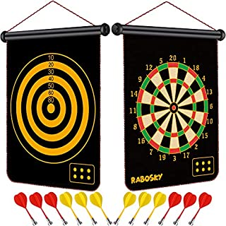 Rabosky Dart Game Toy for Boys Age 6 7 8 9 10 11 12 Year Old, Boys Birthday Age 6 to 12, Safe Magnetic Dart Board for Kids, 12PCS Magnetic Darts