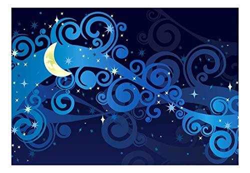 Beautiful Illustration of Swirls and a Nighttime Sky Wall Mural