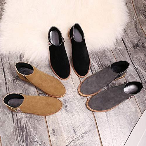 Bottes Talon Femmes Forme Doux Plate Boots Haut SANFAHION FBzHqz