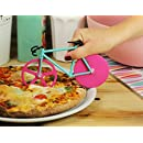 Pizza Cutter - Bicycle Pizza Cutter: Black & Yellow