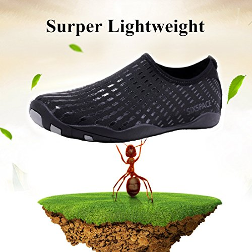 ed96f2af66d0 Sixspace Men Women Water Shoes Quick-Dry Durable Sole Barefoot Water Skin  Shoes for Beach