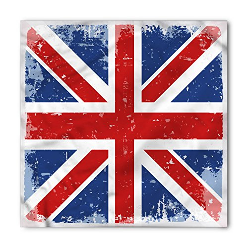 - Lunarable Unisex Bandana, British Vintage England London Flag, Navy Blue