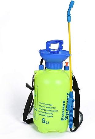 BBINHAN Pulverizador de jardín Pulverizador Manual a presión, Pulverizador con Correa para el Hombro, Tiene un Buen Ancho de pulverización, para Fumigar, Desinfectar, Limpiar, Jardín(5L): Amazon.es: Hogar