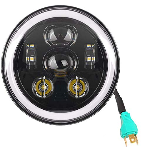 - Eagle Lights 7 inch Round Generation III LED Headlight with Halo Ring for Harley Davidson Street Glide, Softail, Road King, Electra Glide, Indian Chief, Chieftain Black