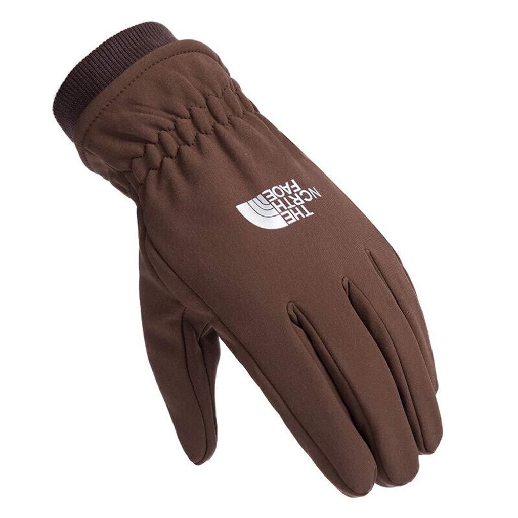 DSADDSD Handschuhe für Männer im Herbst und Winter, Touchscreen warme Rutschfeste Winddichte Reithandschuhe