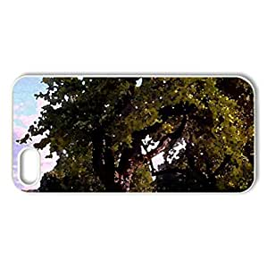 Morning in hill of Dainas - Case Cover for iPhone 5 and 5S (Watercolor style, White)