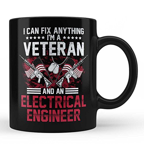 I'm A Veteran Electrical Engineer Mug - Gift for Veteran Electrical Engineer Veterans Day Gift For Job Office Friends Self Colleague Patriotic Gift Black Coffee Mug By HOM by Home Of Merch