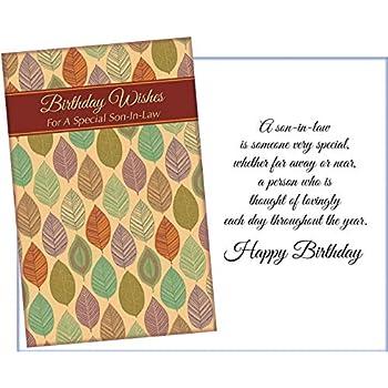 Amazon com : Happy Birthday Son-in-Law Greeting Card