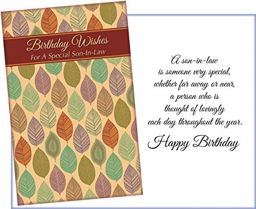 Prime Greetings Happy Birthday Greeting Card For Son-In-Law. Birthday Wishes For A Special Son-In-Law.