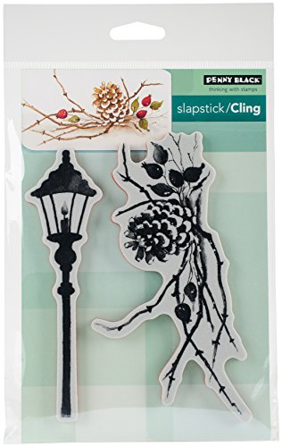 """Penny Black Cones & Berries Cling Stamps, 5""""X7"""", Multi-Colou"""