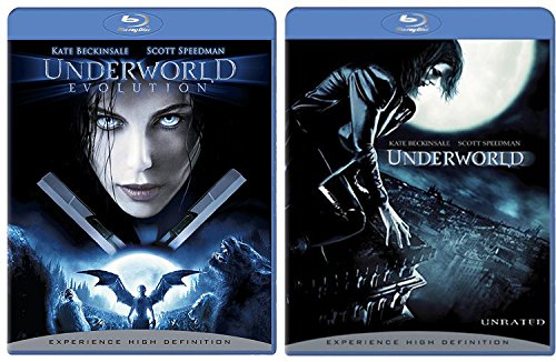 Underworld + Underworld Evolution Blu Ray movie Set - Vampires & Lycans