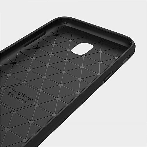 Funda Samsung Galaxy J7 2017,TPU Ultra Delgado Soft Gel Slim Armadura Protector Funda Case Para Samsung J7 2017 J730 Funda Carasa Silicona Caucho Gris
