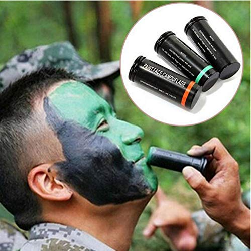 Cutelove Professional Face Paint Crayons Pen Face Paint Oil Body Painting Art Army Troops Cosplay CS Tactical Camouflage Oil Paint Makeup 3 Colors]()
