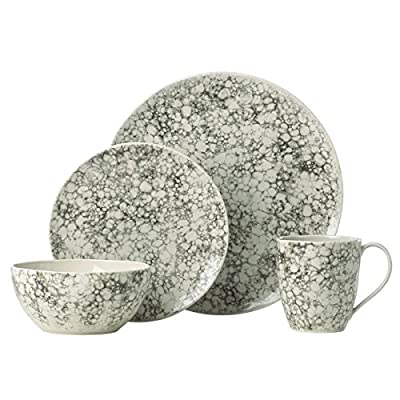 "Lenox Pebble Cove Dinnerware placesetting - Crafted of stoneware Capacity of mug: 16 oz.; all-purpose bowl: 24 oz. Diameter of dinner: 11"" and Salad: 8.5"" Microwave and dishwasher safe - kitchen-tabletop, kitchen-dining-room, dinnerware-sets - 51mBlEntvlL. SS400  -"