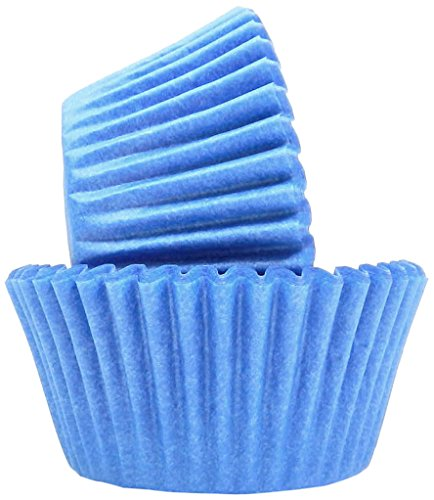 Regency Wraps RW0044 Greaseproof Baking Cups Light Blue 40-Count, Standard, Sky (Sky Blue Cupcake Liners)