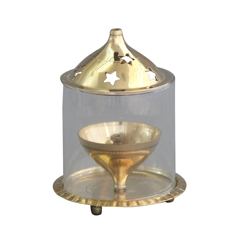 Shubhkart Udipi Diya, Puja Glass Diya,Indian Puja Brass Oil Lamp, Light Holder, by Shubhkart