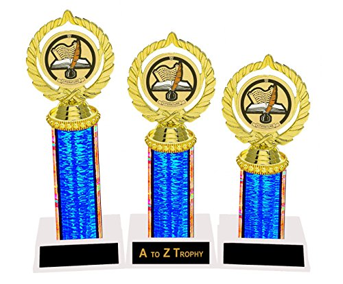 Literature Trophies Awards 1st 2nd 3rd Place School Academic Education Trophy Free Engraving Color Choice