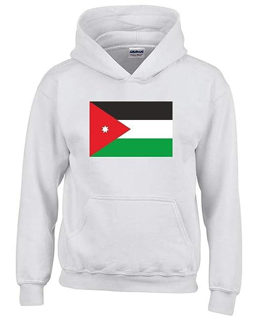 Felpa Cappuccio Bambino Bianco TM0203 Jordan Flag  Amazon.it  Abbigliamento ff49a71e0e00
