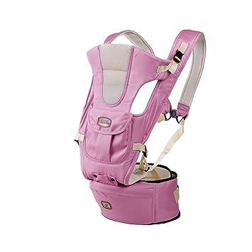 Mochila Portabebes,Baby Carrier,Múltiples Posiciones De Transporte,Multifunción Safety Ajustable Recién Nacidos Strap Soft Wrap,Portador De Bebé con Cintura ...