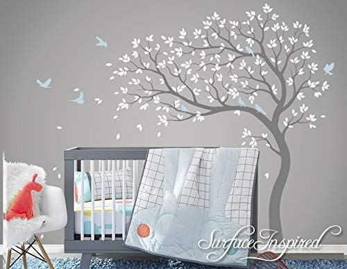 Large Tree Wall Decal Whimsical Summer Tree Removable Nursery Wall Decals From Surface Inspired 1016