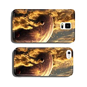 Sunset in alien planet cell phone cover case Samsung S6