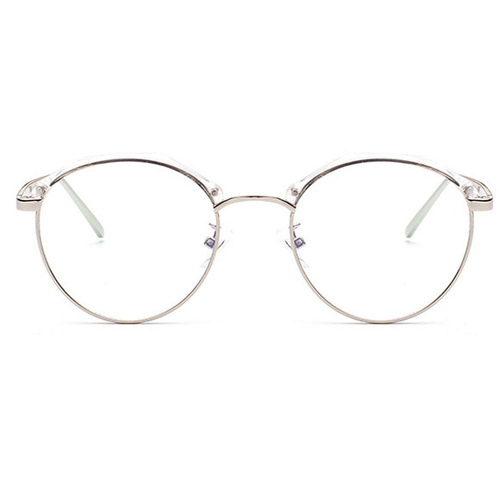 Marco poligonal con estilo redondo lente transparente gafas de sol ...