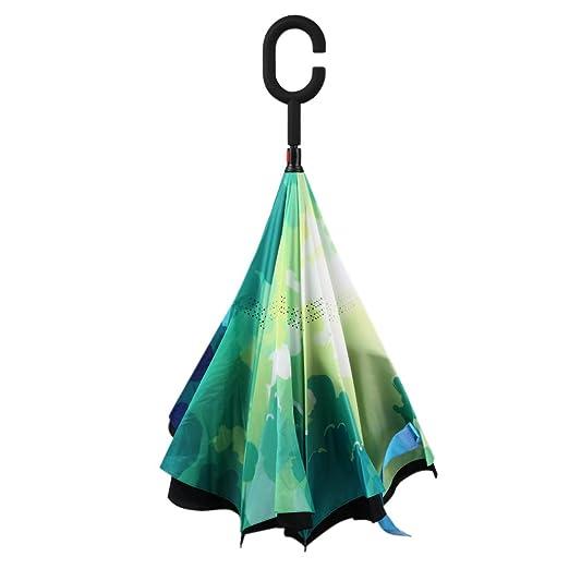 28 opinioni per MYC Yi Lian inverso pieghevole doppio strato invertito Umbrella anti-UV e