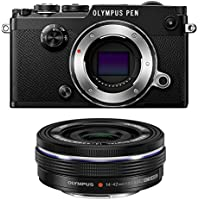 Olympus PEN-F Mirrorless Micro Four Thirds Digital Camera with Olympus M.Zuiko Digital ED 14-42mm f/3.5-5.6 EZ Lens (Black)