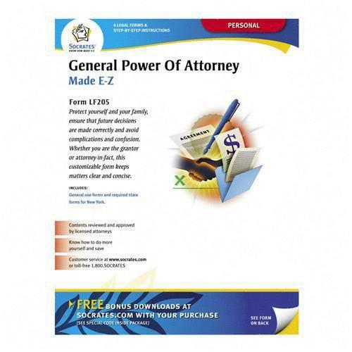 Socrates Media Lf205 General Power Attorney Form Individual Will Handle Finances