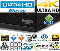 Sony UBP-X800 4K UHD - HDR - SACD - Wi-Fi - All Region Free DVD and Zone ABC Blu Ray Player 100-240V Auto from Sony