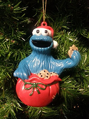 Sesame Street COOKIE MONSTER Christmas Ornament (1998/New)