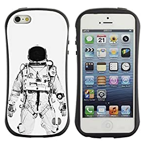 Be-Star Colorful Printed Design Anti-Shock Iface First Class Tpu Case Bumper Cover For Apple iPhone 5 / iPhone 5S ( astronaut cosmonaut white black ) Kimberly Kurzendoerfer