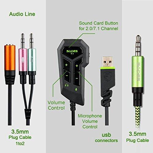 SADES Virtual Headset Headphone Microphone