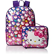 Hello Kitty Girls' Backpack with Lunch Kit, Pink