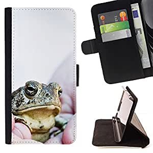 Momo Phone Case / Flip Funda de Cuero Case Cover - Jefe Frog - Motorola Moto E ( 2nd Generation )