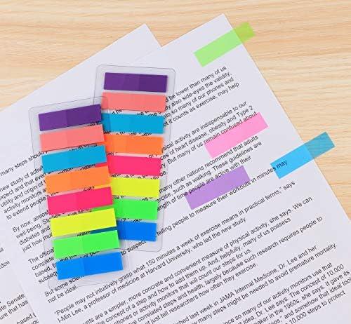 1920 Stück Haftnotizen Haftmarker Seite Marker Sticky Notes beschriftbare Etiketten selbstklebend index tabs Streifen für Noten Seitenmarkierung, 8 Farben,12 Set