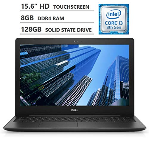 2019 Newest Dell Inspiron 15 15.6″ HD LED-Backlit Touchscreen Laptop, Intel Core i3-8145U Processor up to 3.90GHz, 8GB RAM, 128GB Solid State Drive, HDMI, Wireless-AC, Bluetooth, Windows 10, Black