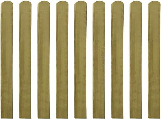 Festnight 30 Uds Listones de Valla de Jardín 9 x 100 cm Cm Madera Impregnada FSC Resistente a la Putrefacción, Grosor 1,9 Cm para jardín, Patio o terraza: Amazon.es: Hogar
