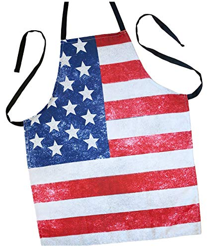 (ApronMen USA American Flag Apron - Fourth of July - High Def Print Poly)