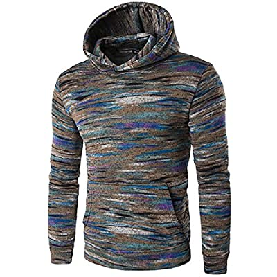 Pandapang Mens Contrast Color Ethnic Print Outer Soft Pullover Hoodies supplier