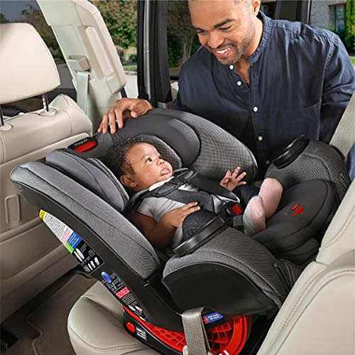 51mBomVrwuL - Britax One4Life ClickTight All-In-One Car Seat – 10 Years Of Use – Infant, Convertible, Booster – 5 To 120 Pounds, Spark Premium Soft Knit Fabric [Amazon Exclusive]